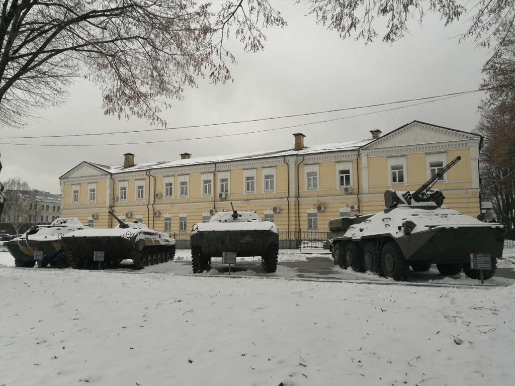 Ukrainian armored vehicles from Donbas conflict