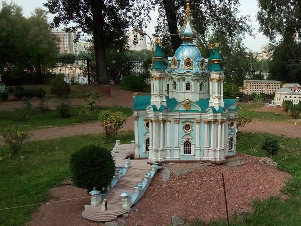 Miniature of St. Andrews church, Kiev